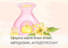 свойства и применение эфирного масла иланг иланг