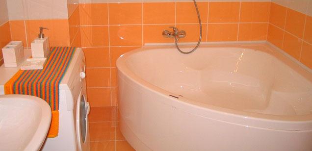 очищаем ванну