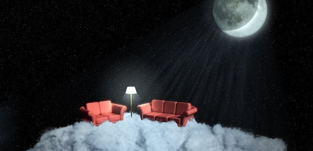 небо, луна
