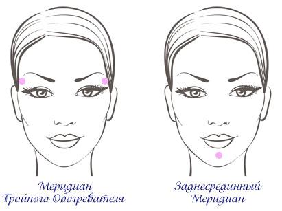 меридианы на лице